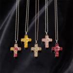 Viburnum Cross Necklace