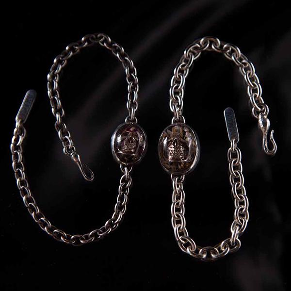 Flower Skull Bracelet